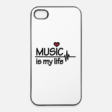 Music Music is my life - iPhone 4 & 4s Hülle