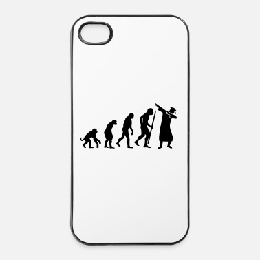 Darwin Evolution dab dabbing graduation college student - Custodia rigida per iPhone 4/4s