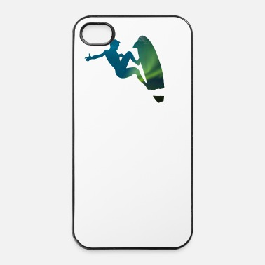 Sport Northern Lights surfer - vague surfeurs Sport - Coque rigide iPhone 4/4s