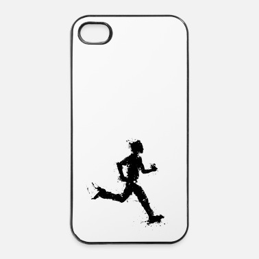 Male runner male - Custodia rigida per iPhone 4/4s