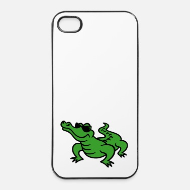 Soleil croco cool (a) - Coque rigide iPhone 4/4s