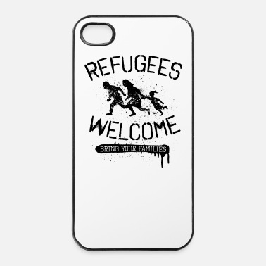 Stencil Refugees Welcome - black - iPhone 4 & 4s Hülle