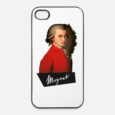 Piano Mozart portrait - Coque rigide iPhone 4/4s