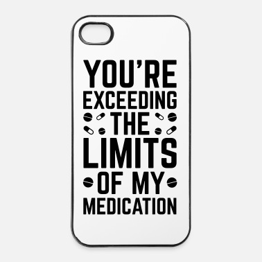 Slogan The Limits Of My Medication  - Hårt iPhone 4/4s-skal