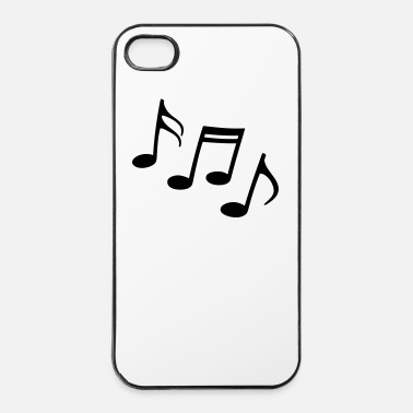 Corno note di Happy Sheet Music musica musicisti - Custodia rigida per iPhone 4/4s