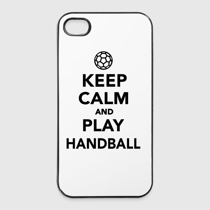 Keep calm and play Handball - iPhone 4/4s Hard Case
