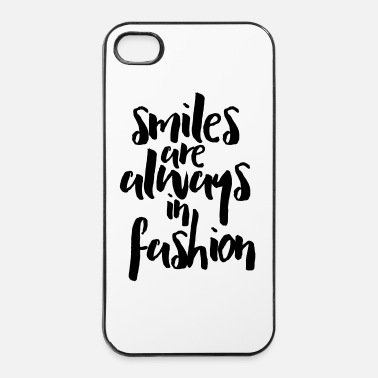 Inspiration Smiles In Fashion Quote - Hårt iPhone 4/4s-skal
