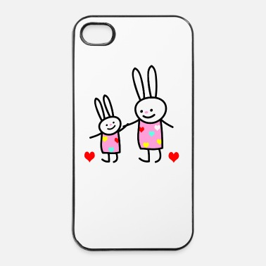 Fratello rabbit children - Custodia rigida per iPhone 4/4s