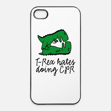 Trex T-Rex hates doing CPR fensiapu ohjaaja - iPhone 4/4s kuori