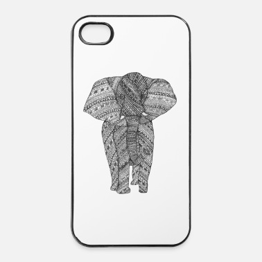 Aziatisch Olifant zwart/wit - iPhone 4/4s hard case