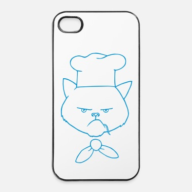 Pasto cuoco cat - Custodia rigida per iPhone 4/4s