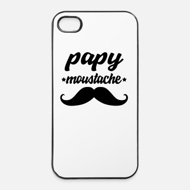 Moustache papy moustache - Coque rigide iPhone 4/4s