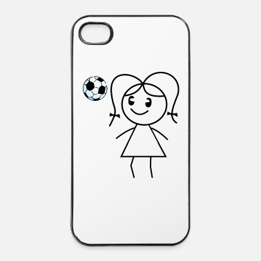 Soccer soccer girl - Coque rigide iPhone 4/4s