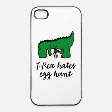 Easter Bunny T-Rex hates egg hunt Happy Easter egg searching - iPhone 4 & 4s Case