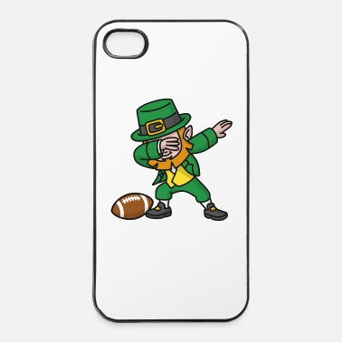 Football Américain Dab dabbing leprechaun St. Patrick's day rugby - Coque rigide iPhone 4/4s