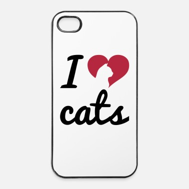 Fun Fancy I Love Cats  - Coque rigide iPhone 4/4s