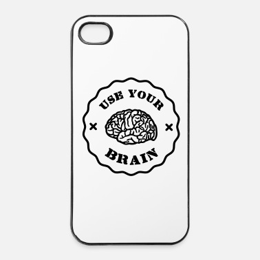 Slogan Use Your Brain - Funny Statement / slogan - Hårt iPhone 4/4s-skal
