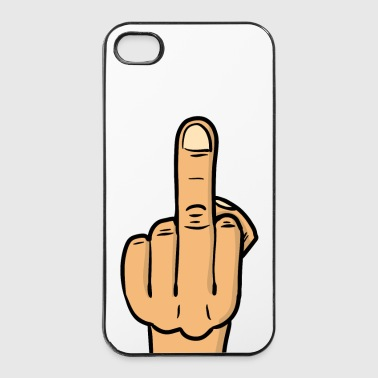 middle finger deluxe bmp - iPhone 4/4s Hard Case