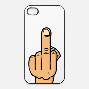 Deluxe middle finger deluxe bmp - Custodia rigida per iPhone 4/4s