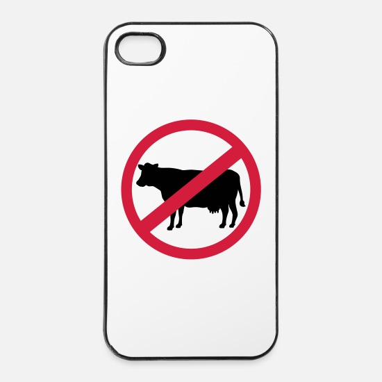 Vegan iPhone Cases - Vegetarian - iPhone 4 & 4s Case white/black