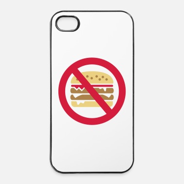 Voedsel Hamburger Verbod  - iPhone 4/4s hard case
