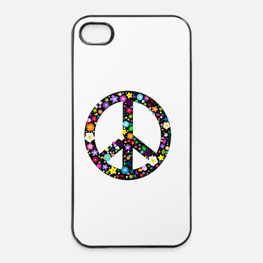Hippie Flower Peace Sign Buttons - iPhone 4 & 4s Case