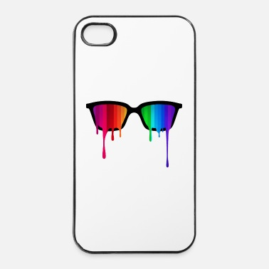 Pride Rainbow - Spectrum (Pride) / Hipster Nerd Glasses - iPhone 4 & 4s Hülle