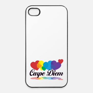 Terveys rainbow carpe diem - iPhone 4/4s kovakotelo