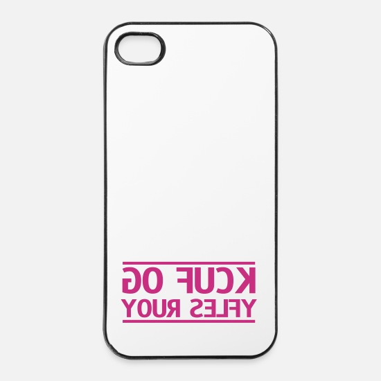 Awesome iPhone Cases - go fuck your selfie - iPhone 4 & 4s Case white/black