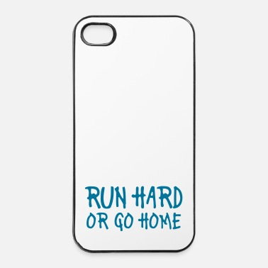 Homme run hard or go home - Coque rigide iPhone 4/4s