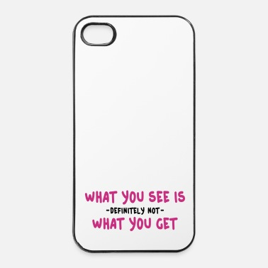 Surprise what you see is what you get - wysiwyg 2c - Coque rigide iPhone 4/4s