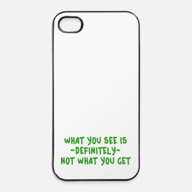 Surprise what you see is what you get - wysiwyg - Coque rigide iPhone 4/4s