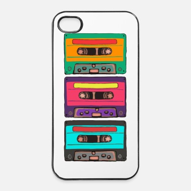 Old School Colorful Cassettes row - iPhone 4/4s kovakotelo