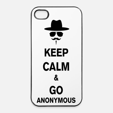 Anonymous Keep calm or go - Coque rigide iPhone 4/4s