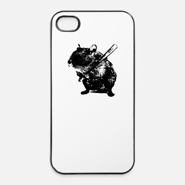Stencil  Angry Hamster - iPhone 4/4s hard case