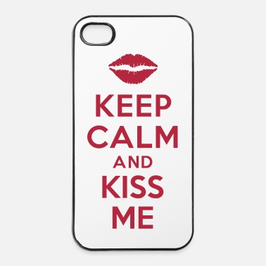 Kiss keep calm and kiss me - Coque rigide iPhone 4/4s