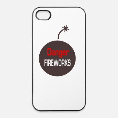 Male danger fireworks - Custodia rigida per iPhone 4/4s