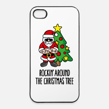 Mc Rockin' around the Christmas tree Kerstman Rock - iPhone 4/4s hard case
