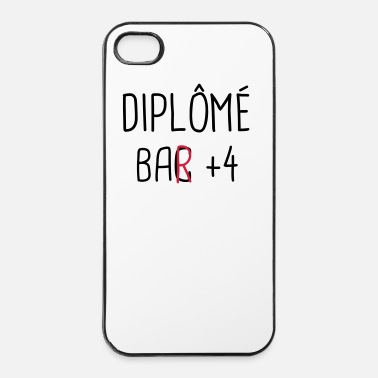 Bar bar + 4, cadeau alcool, apéro, alcool, bar, whisky - Coque rigide iPhone 4/4s
