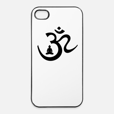 Zen OM symbool met mediterende Boedha Boeddhisme  - iPhone 4/4s hard case