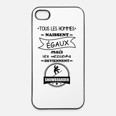 Hiver hommes snowboarder, cadeau snowboard, snow, hiver - Coque rigide iPhone 4/4s