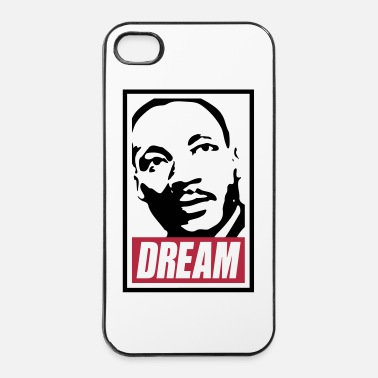 Anonymous Obey x Dream MLK 2c_blanc - Coque rigide iPhone 4/4s