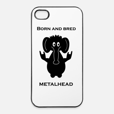 Heavy Metal Born and bred metalhead elephant - Clean - Hårt iPhone 4/4s-skal