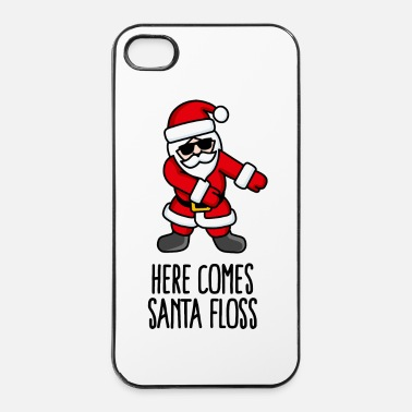 Santa Claus Here comes Santa Floss dance Flossing Santa Claus - iPhone 4 & 4s Case
