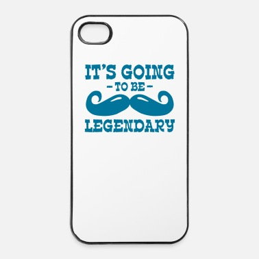 Héroe it's going to be legendary / moustache - Carcasa iPhone 4/4s