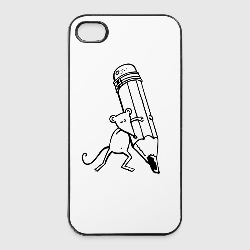 Maus mit Stift - iPhone 4/4s Hard Case
