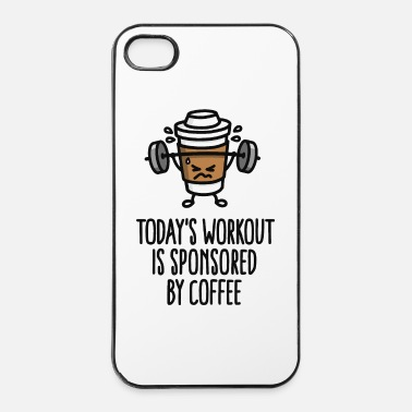 Fumetto Todays workout is sponsored by coffee (lifting) - Custodia rigida per iPhone 4/4s