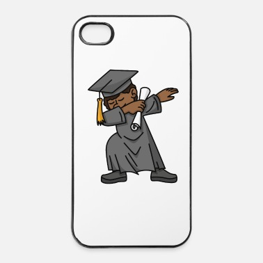 Kindergarten Black boy student dab dabbing graduation school - iPhone 4 & 4s Case