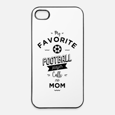 Football My favorite football player calls me mom - Coque rigide iPhone 4/4s