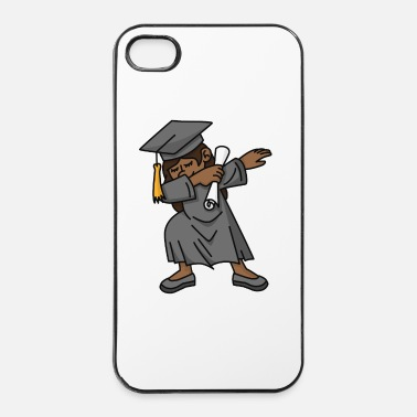 Kindergarten Black girl student dab dabbing graduation school - iPhone 4 & 4s Case